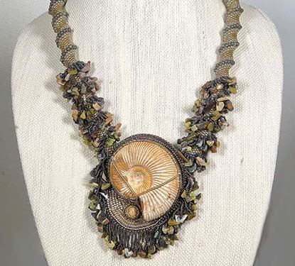 Photo of Ammonite Necklace Created by Linda Girard