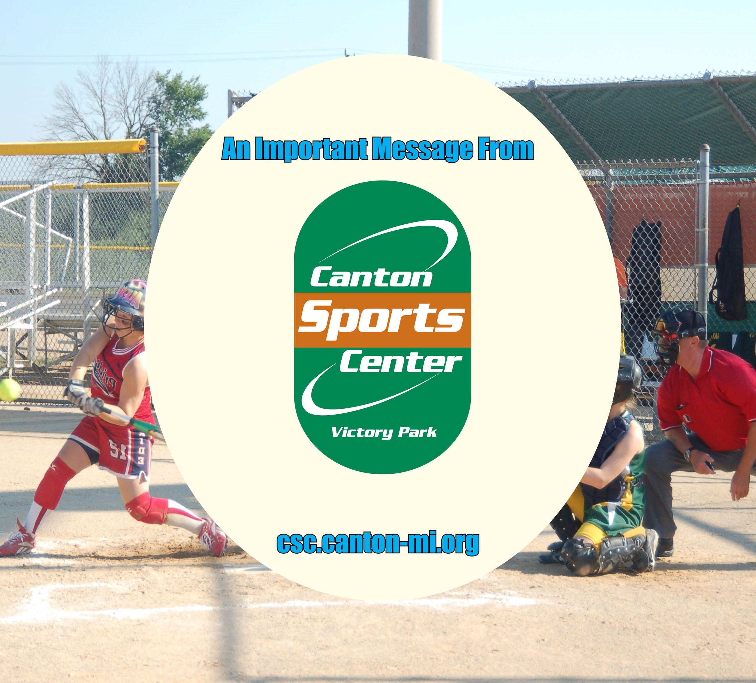 Important Canton Sports Center  Message Graphic